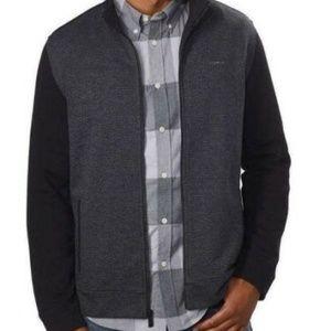 Calvin Klein Men's Full-Zip Fleece Mock Sweatshirt